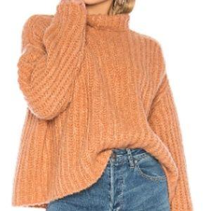 NWT Free People Fluffy Fox Sweater (color papaya)